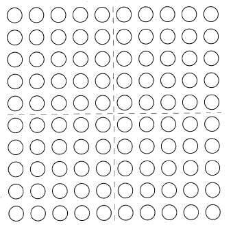Screen shot 100 dot array
