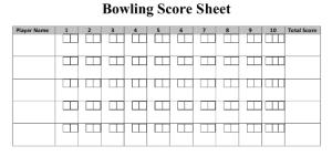 math bowling score pic