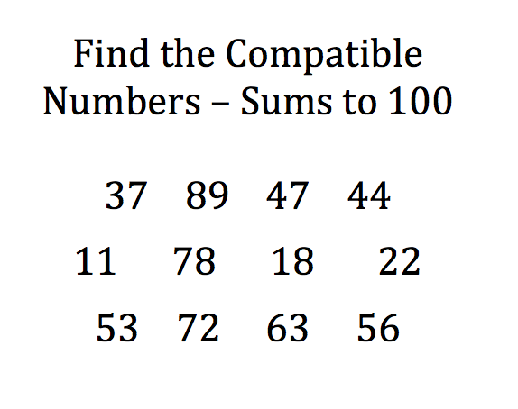 Compatible Pairs for building Number Sense | Focus on Math