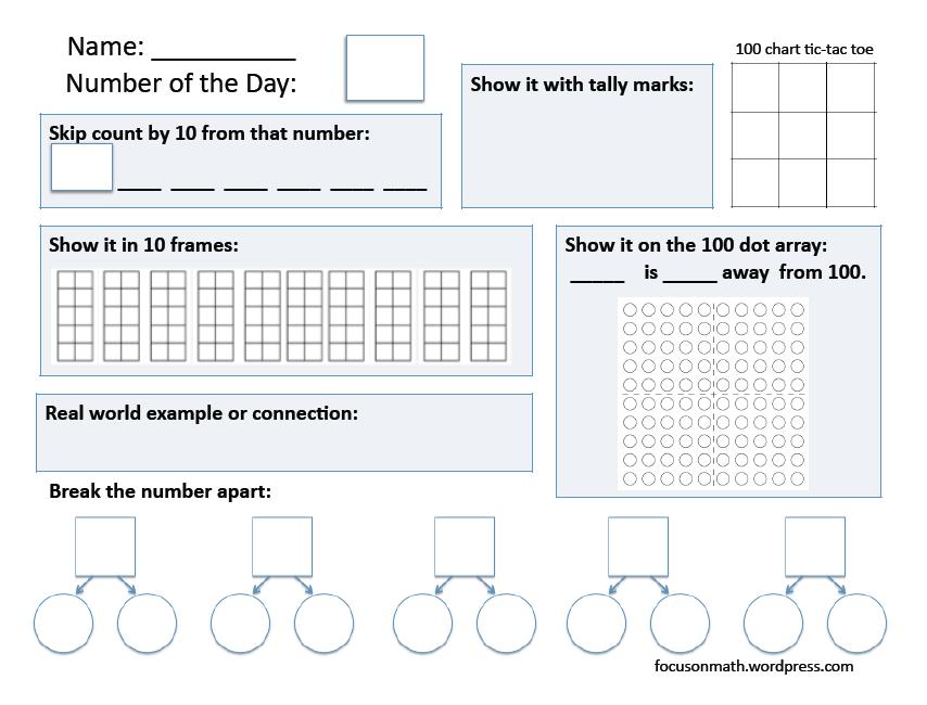 Free Ten Frame Chart and TWENTY Frame Chart
