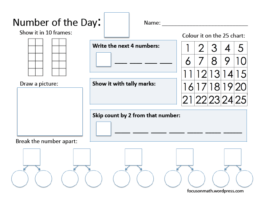 Number of the Day – Level I | Focus on Math